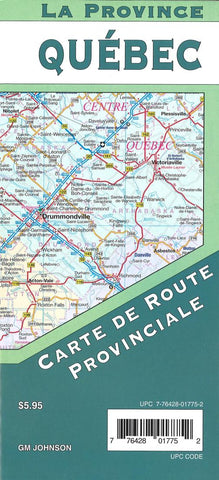 Buy map Québec Provincial Road Map by GM Johnson