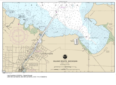 Buy map SMALL-CRAFT BOOK CHART - Inland Route, Cheboygan to Conway (book of 12 Charts) (14886-12) by NOAA