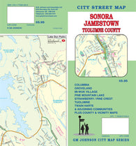 Buy map Sonora, Jamestown and Tuolumne County, California by GM Johnson