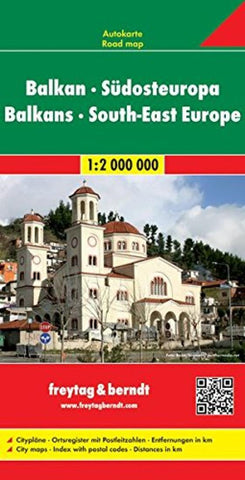 Buy map Balkans and Southeast Europe by Freytag-Berndt und Artaria
