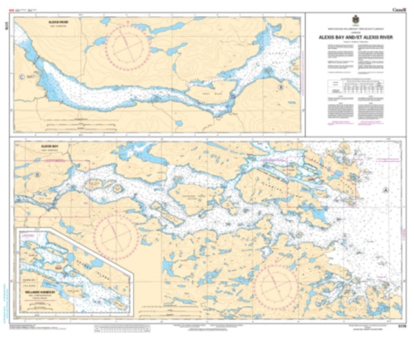 Buy map Alexis Bay and/et Alexis River by Canadian Hydrographic Service