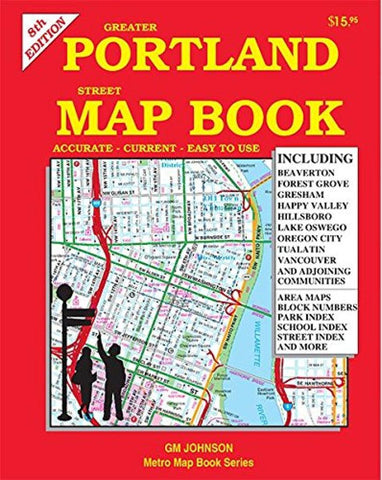 Buy map Greater Portland Street Map by GM Johnson