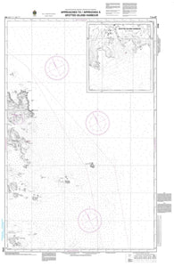 Buy map Approaches to/Approches a Spotted Island Harbour by Canadian Hydrographic Service