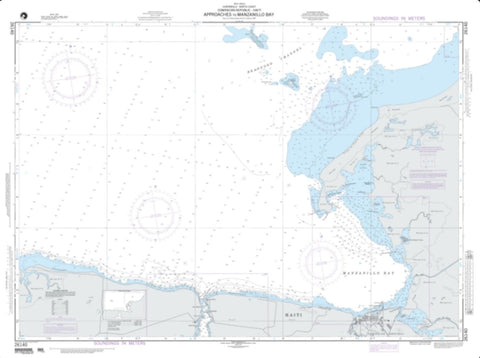 Buy map Approaches To Manzanillo Bay (NGA-26140-2) by National Geospatial-Intelligence Agency