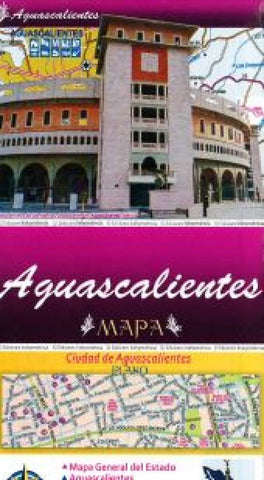 Buy map Aguascalientes, Mexico, State and Major Cities Map by Ediciones Independencia