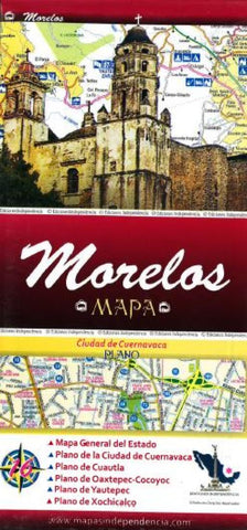 Buy map Morelos, Mexico, State and Major Cities Map by Ediciones Independencia