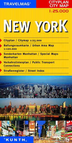 Buy map New York City, NY by Kunth Verlag