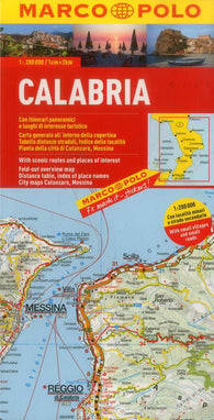 Buy map Calabria, Italy by Marco Polo Travel Publishing Ltd