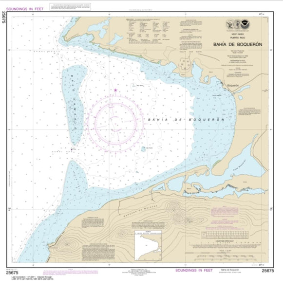 Buy map Bahia de Boqueron (25675-10) by NOAA