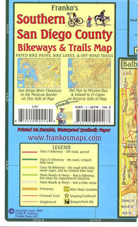 Buy map California Map, San Diego Bikeways, Southern, folded, 2010 by Frankos Maps Ltd.