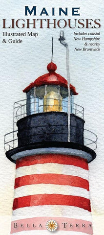 Buy map Maine Lighthouses Map by Bella Terra Publishing LLC