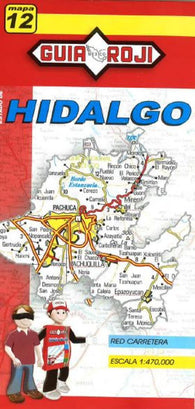 Buy map Hidalgo, Mexico, State Map by Guia Roji