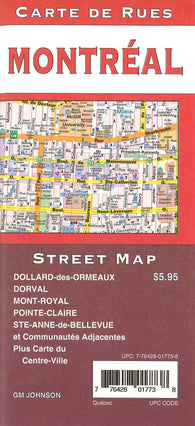 Buy map Montréal, Canada Street Map by GM Johnson