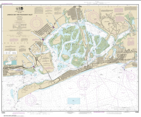 Buy map Jamaica Bay and Rockaway Inlet (12350-60) by NOAA