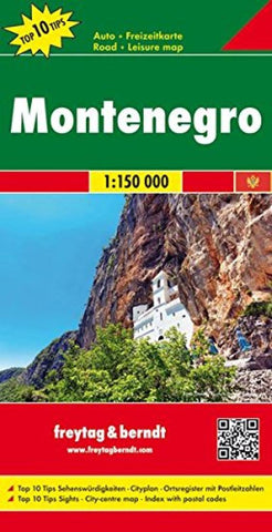 Buy map Montenegro by Freytag-Berndt und Artaria