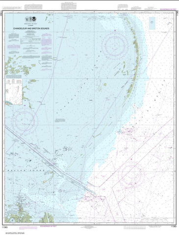 Buy map Chandeleur and Breton Sounds (11363-44) by NOAA