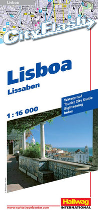 Buy map Lisbon, Portugal City Flash Map by Hallwag