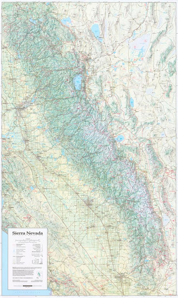 Buy map Sierra Nevada, California and Nevada, laminated by Imus Geographics