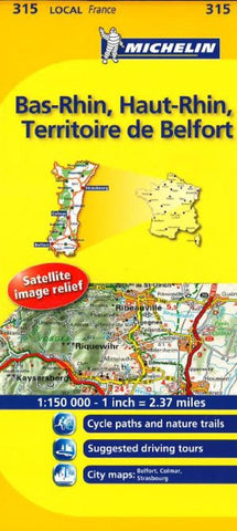 Buy map Bas Rhin, Haut Rhin (315) by Michelin Maps and Guides