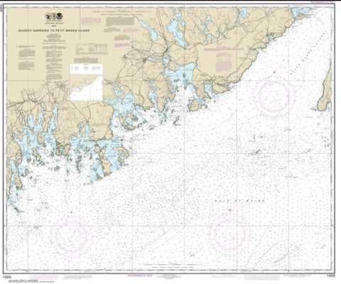 Buy map Quoddy Narrows to Petit Manan lsland (13325-16) by NOAA