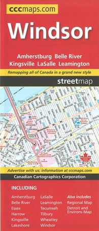 Buy map Windsor Ontario Street Map by Canadian Cartographics Corporation