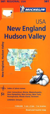 Buy map Hudson Valley, New England (581) by Michelin Maps and Guides