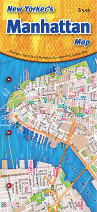 Buy map Manhattan -- The New Yorkers Bus and Subway Map by Opus Publishing