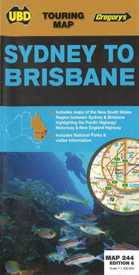 Buy map Sydney to Brisbane, Australia by Universal Publishers Pty Ltd