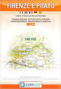 Buy map Firenze and Prato Province, Italy by Litografia Artistica Cartografica