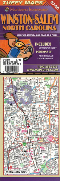 Buy map Winston-Salem, North Carolina Laminated Tuffy Map by Tuffy Maps
