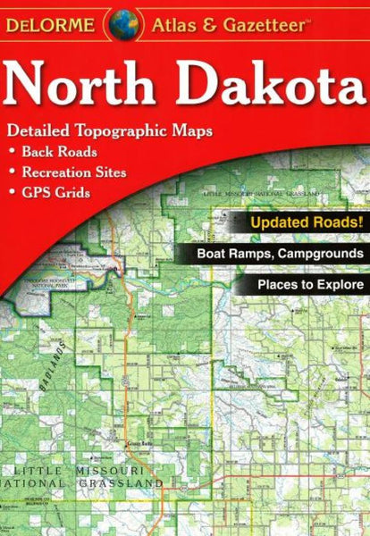 Buy map North Dakota, Atlas and Gazetteer by DeLorme