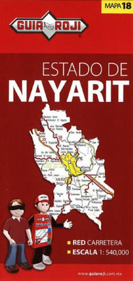 Buy map Nayarit, Mexico, State Map by Guia Roji