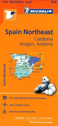 Buy map Aragon, Catalunya, Andorra and Spain, Northeast (574) by Michelin Maps and Guides