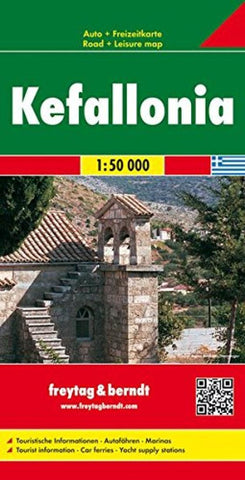 Buy map Kefalonia, Greece by Freytag-Berndt und Artaria