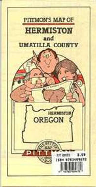 Buy map Hermiston and Umatilla County, Oregon by Pittmon Map Company
