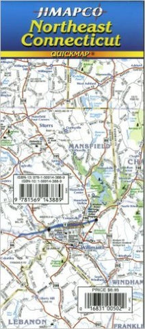 Buy map Connecticut, Northeast, Quickmap by Jimapco