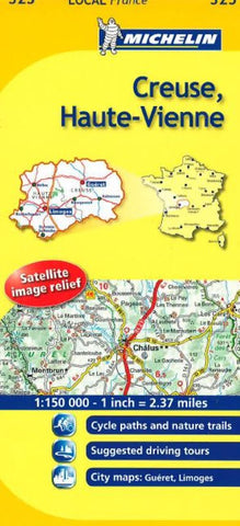 Buy map Creuse, Haute-Vienne (325) by Michelin Maps and Guides
