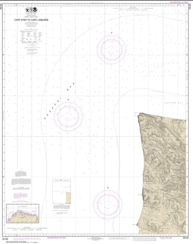 Buy map Cape Dyer to Cape Lisburge (16122-6) by NOAA
