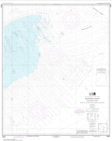 Buy map Georges Bank Eastern part (13204-14) by NOAA