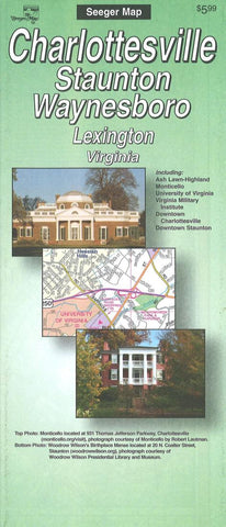 Buy map Charlottesville, Virginia Street Map by Seeger Map Company