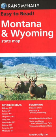 Buy map Montana and Wyoming by Rand McNally