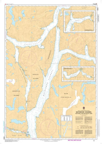 Buy map Mathieson Channel Northern Portion/Partie Nord by Canadian Hydrographic Service
