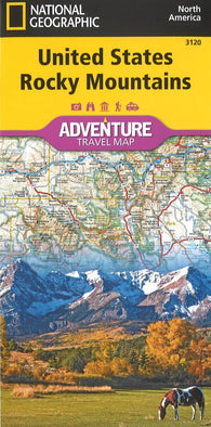 Buy map U.S. Rocky Mountains Adventure Map (3120) by National Geographic Maps