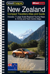 Buy map New Zealand, Compact Touring Atlas by Kiwi Maps