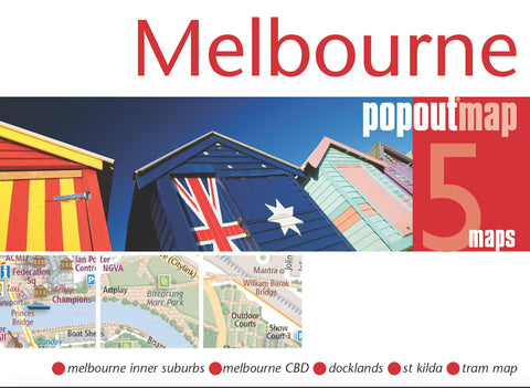 Buy map Melbourne, Australia, PopOut Map by PopOut Products