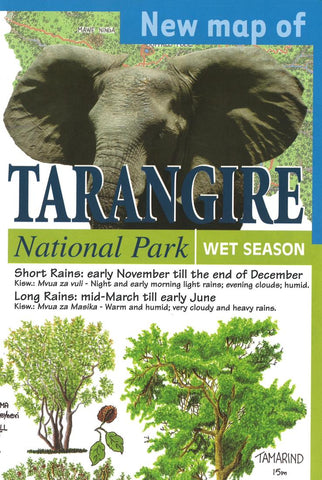 Buy map Tarangire National Park by GT Maps