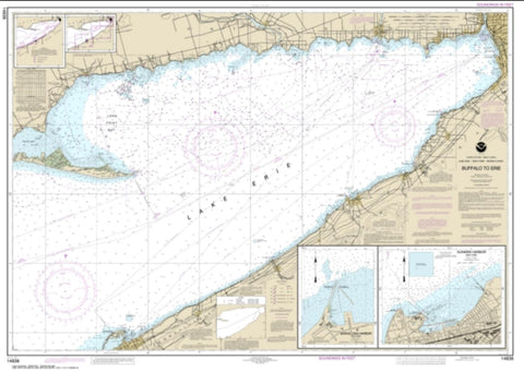 Buy map Buffalo to Erie; Dunkirk; Barcelone Harbor (14838-4) by NOAA