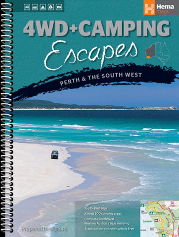 Buy map Perth and The South West, Australia, 4WD and Camping Escapes by Hema Maps