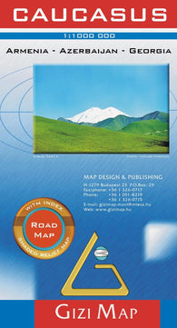 Buy map Caucasus Road Map by GiziMap