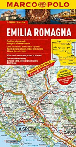 Buy map Emilia Romagna, Italy by Marco Polo Travel Publishing Ltd